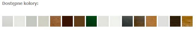 paleta kolorystyczna okna drzwi zielona góra