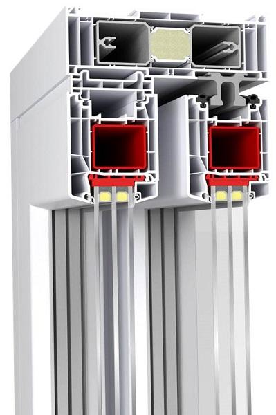 ALUPLAST - HST 85 mm drzwi przesuwne zgora