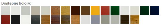 kolory okien i drzwi pvc